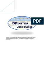 DRoster Employee Scheduling Manual