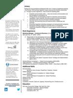 ct academic resume