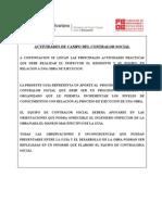 Actividades de Campo Del Supervisor de Obras