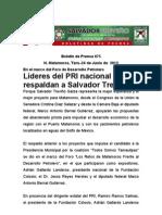 Líderes del PRI nacionalrespaldan a Salvador Treviño