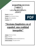 Monografia Sexismo