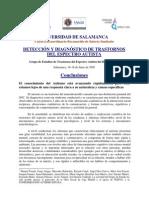 Conclusiones Congreso Autismo Salamanca