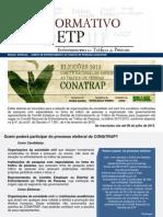 Informativo Enfrentamento ao Tráfico de Pessoas - Edição Especial CONATRAP