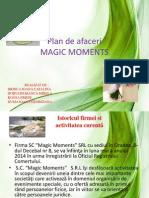 Magic Moments - plan de afaceri