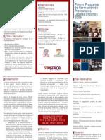 Tríptico I Programa de Promotores Legales Urbanos