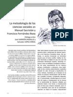 La metodología de las Ciencias Sociales en Manuel Sacristán y Francisco Fernández Buey