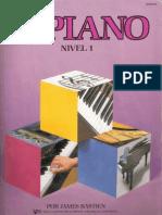 116155404 Piano Basico de Bastien Nivel 1