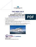 Norwegian Cruise Line Sale