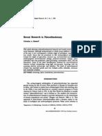 Recent Research in Paleoethnobotany