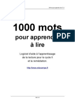 1000 Mots Documentation