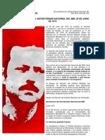 DECLARACIÓN DEL SECRETARIADO NACIONAL DEL MIR, 29 DE JUNIO DE 1973