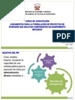 Presentaciones Lineamientos PIP Incluyan Equipamiento Mecanico