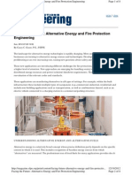 Alternative Energy and Fire Protection Engineering