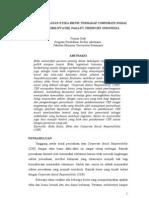 Analisis Peranan Etika Bisnis Terhadap CSR Pada PT.freePort Indonesia