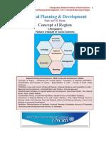 Regional Planning Part I Concept of Region