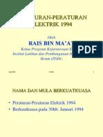PERATURAN-PERATURAN ELEKTRIK 1994