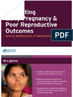 Preventing Early Pregnancy