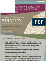 2.Charting a Companys Direction Vision and Mission, Objectives, And Strategy