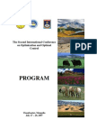 The Second International Conference on Optimization and Optimal Control PROGRAM