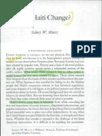 Can Haiti Change