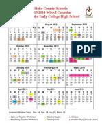 13-14 SHECHS Calendar Revised Grading Periods