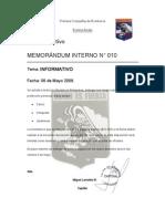 Memorandum 010
