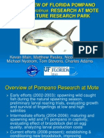 An Overview of Florida Pompano Trachinotus Carolinusresearch at Mote