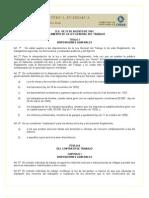 Reglamento de La Ley General Del Trabajo