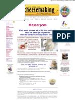 Make MAscarpone in Your Kitchea