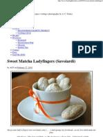 Sweet Matcha Ladyfingers (Savoiardi)