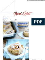 Lauren's Latest » My Cinnabon Cinnamon Rolls