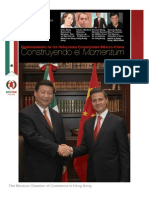 Relanzamiento de las Relaciones Comerciales Mexico-China Construyendo el Momentum