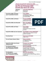 372 - Communiqué SGDL GRANDS PRIX DE PRINTEMPS 2009