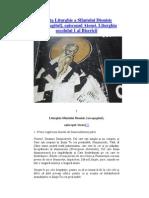 Liturghia Sf. Dionisie Areopagitul PG 3