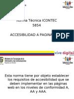 Gobierno en Linea Exposicion Sobre Accesibilidad NTC 5854