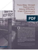 Two-Way Street Networks: More Efficient than Previously Thought?