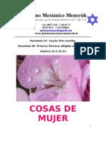 Parashá No.27-28- Tazría - Metzorá- Cosas de mujer