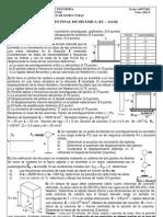 Examen Final de dinámica - UNI