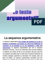 Le Texte Argumentatif en Frances
