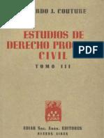 Estudios de Derecho Procesal Civil - Tomo III - Eduardo Couture