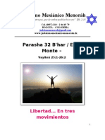 Parashá No.32-  B´har- Libertad en tres movimientos