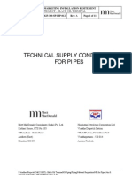Annexure 3 - Technical Supply Conditions for Pipes