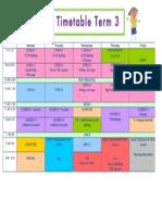 timetable term 3 - 2l