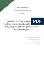 Analysis of a Vapor Absorption Machine to Air