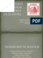 Transporte de Solidos de Operaciones Unitarias