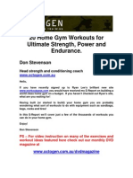20 Home Gym Workouts for Ultimate Strength