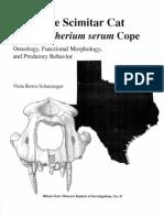 Homotherium Osteology and Predatory Behavior