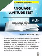Language Aptitude Test