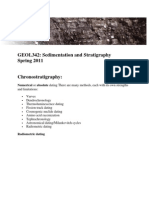 Sedimentation and Stratigraphy