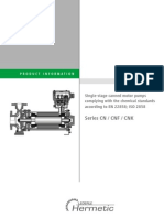 Hermetic Pumpen Canned Motor Pumps Catalogue for Model CN_CNF_CNK